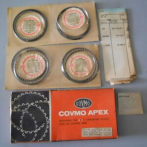 NOS Covmo +.020 Piston Rings for TR3B/4/4A Factory +.020 86mm Pistons--
