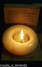 Porta Candela in Pietra ARAGONITE Tea Light  Energia Cromoterapia Wicca Zen