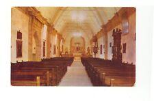 Carmel Ca interior Carmel Mission unused postcard chrome