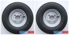 A pair 400 X 8, 4.80 / 4.00 x 8 inch trailer wheels 4 ply tyre 4 inch pcd