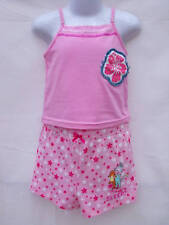 ~BNWOT Girls Sz 3 Dora Sleep Shorts & Cute Pink Top PJ Summer Sleep Set~