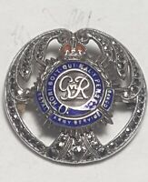 Royal Army Service Corps Sterling Silver Marcasite Sweetheart Brooch Badge GVI