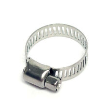 "1"" Stainless Steel Hose Clamps - Pack of 10 - 8mm thick"