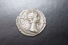Ancient Roman Orbiana PLATA DENARIO moneda 3rd Centavos Ad