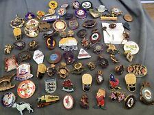 More details for job lot of vintage enamel advertising pin badges british legion military etc!!