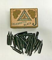 35 x Antique Writing Pen Nibs in Original Box Brandauer No. 251.B Black