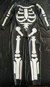 Latex Rubber Skeleton Catsuit
