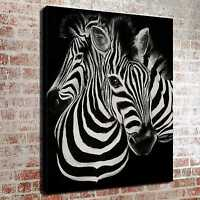 Black and White Zebra HD Canvas Print Paintings Home Decor Wall Art Picture