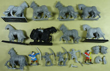 Citadel-Bretonia - 9 X Bretonnian caballos con Caparison-Plástico-Warhammer