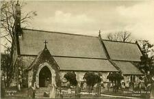 PRINTED POSTCARD OF LONG NEWTON CHURCH, (NEAR STOCKTON), CO. DURHAM BY TUCK #LN9