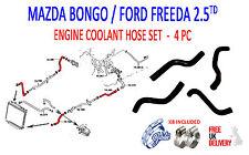 MAZDA BONGO 2.5TD 1995 - 2006  MAZDA 4 PIECE  COOLANT HOSE SET ( FREE DELIVERY )