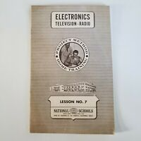 Vintage National Technical Schools Lesson Booklet 7 Electronics TV RADIO 1966