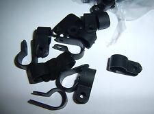 "20 1/2"" Black Nylon Power Wire Cable Clamp Tie Down Holder Car Audio Split Loom"