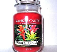 "Yankee Candle ""TROPICAL JUNGLE""~ Fruit ~European ~ Large 22 oz.~ WHITE LABEL~NEW"