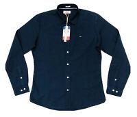 Tommy Hilfiger Men's Slim Fit Oxford Shirt In Navy Blue