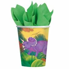8pk Prehistoric Party Paper Cups 266ml Tableware Supplies Birthday Tableware