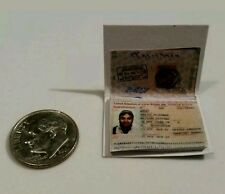 Miniature Terrorist passport  GI Joe Action Figure 1/12 Scale Blue Afghanistan