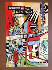 QUIKSILVER - NY - New York Pro - HEAVY STOCK - ART POSTER