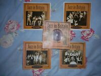 JAZZ IN BRITAIN (PROPER) 101 TRACKS on 4CDs + 10 PAGE DISCOG - CARD CASES