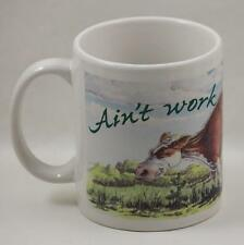 Cow Coffee Cup Mug Learning Tree Ain't Work A Gas Ben Crane 1995