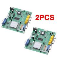2×Genuine Gonbes GBS8200 CGA/EGA/YUV/RGB to VGA Arcade Game Video Converter S0B8