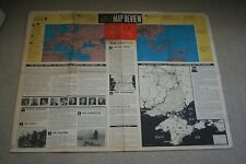 ORIGINAL WW2 ABCA MAP REVIEW FROM OCTOBER 25TH  TO NOVEMBER 7TH 1943