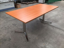 Boardroom Table Meeting Office Table with Metal Base Rectangular shaped 2100L
