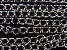 2m Chain Silver Plated 7mm x 5mm Link Size.