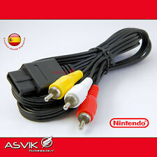 "CABLE AUDIO VIDEO AV RCA SUPER NINTENDO 64 GAMECUBE N64 SNES NGC ""NUEVO"" FAMICOM"