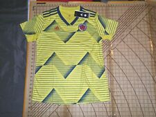 WOMENS LARGE ADIDAS BLUE/YELLOW COLOMBIA SOCCER JERSEY - NWT