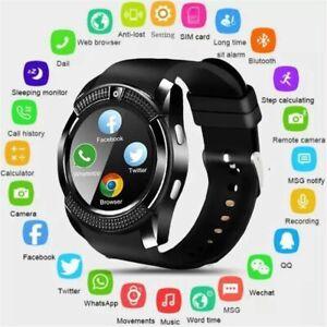 Men Women Bluetooth Smart Watch Camera for Moto Samsung S21 S20 S10 S9 Plus Note