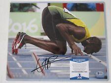 USAIN BOLT 14 x 11 AUTO AUTOGRAPH PHOTO BECKETT COA GOLD MEDAL WINNING OLYMPIAN