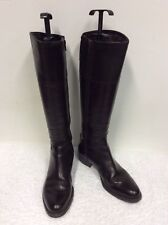 JANE SHILTON DARK BROWN LEATHER KNEE LENGTH BOOTS SIZE 3.5/36