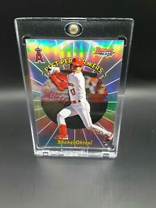 2018 Bowman's Best Shohei Ohtani BEST PERFORMERS REFRACTOR #98 RC + ONE TOUCH