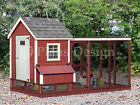 Two-in-One  Backyard Chicken Coop Plans with Kennel / Run, Design # 60410GL