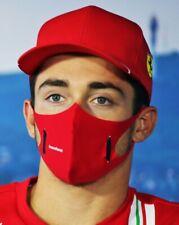 RARE !  LECLERC Charles - VETTEL Sebastian - Scuderia Ferrari F1 - U face mask..