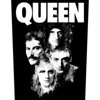 Printed Sew-on BACK PATCH Official Licensed Merch Freddie Mercury QUEEN Faces
