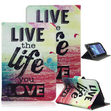 """US For 7"""" 7.85"""" Tablet Live the Life U Love Universal Pattern Leather Case Cover"""