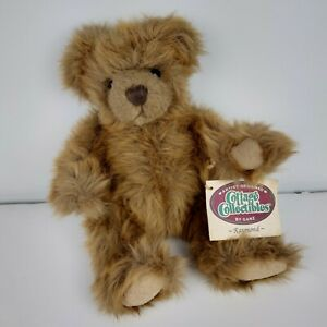 """Vintage Ganz Cottage Collectables Rotatable Joints 7"""" plush Bear with tag 1995"""