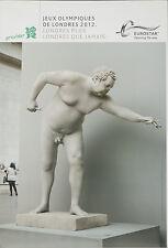 Original Vintage Poster London Summer Olympics 2012 Greek Statue Eurostar French