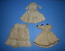 Lot of 2 Antique Doll Dress, 1 Antique Doll Apron