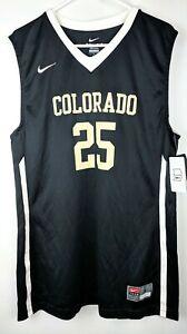 Colorado Buffaloes Nike Basketball Tank Top Mens Sz Medium Throwback Black 25
