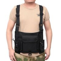 US Stock Tactical Radio Chest Rig Ppouch Chest Front Pack Combat Harness