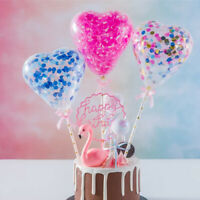 Sequin Balloon Cake Topper Insert Latex Colorful Birthday Party Cake Decoration