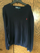 Ralph Lauren Polo Mens Large Long Sleeve Pima Cotton Sweater L Fits Like Medium