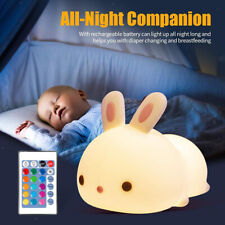 Cute Bunny Night Light for Kids Kawaii Animal Lamp Decrations Baby Gift