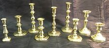 Vintage 9 Piece Lot All Baldwin Brass Candlestick Candle Holders Wedding USA