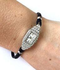 Antique Classy Girard Perregaux Platinium Pt Ladies 34 Diamond Wind Up Watch