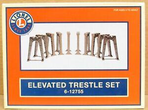 Lionel 6-12755 Elevated Trestle Set 10x for Tubular O-27/O-Gauge LNIB