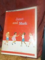 Janet And Mark 1966 The Harper & Row Basic Reading Program Book Learn to Read